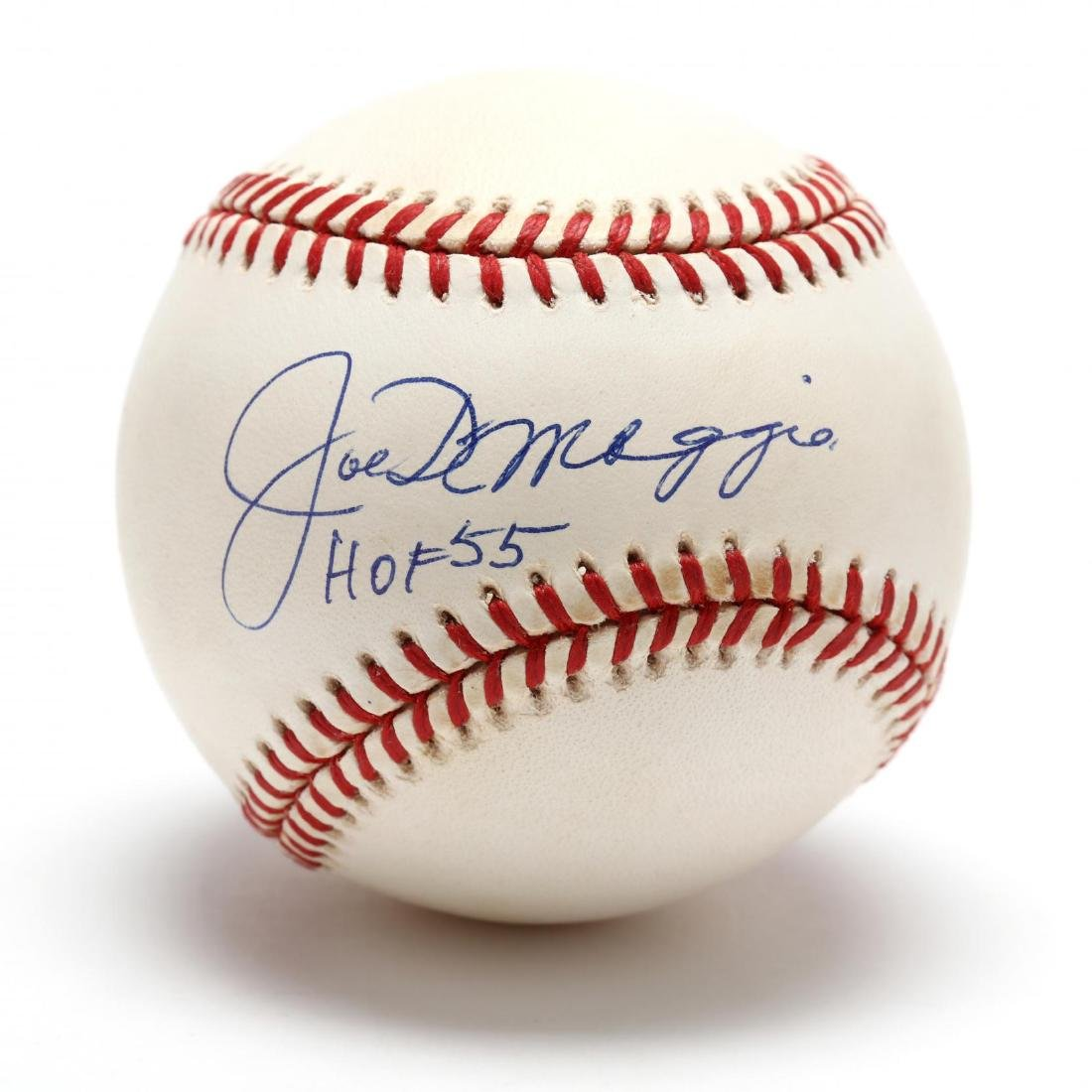 """Special """"Joe DiMaggio HOF 55"""" Single Signed OAL Budig"""