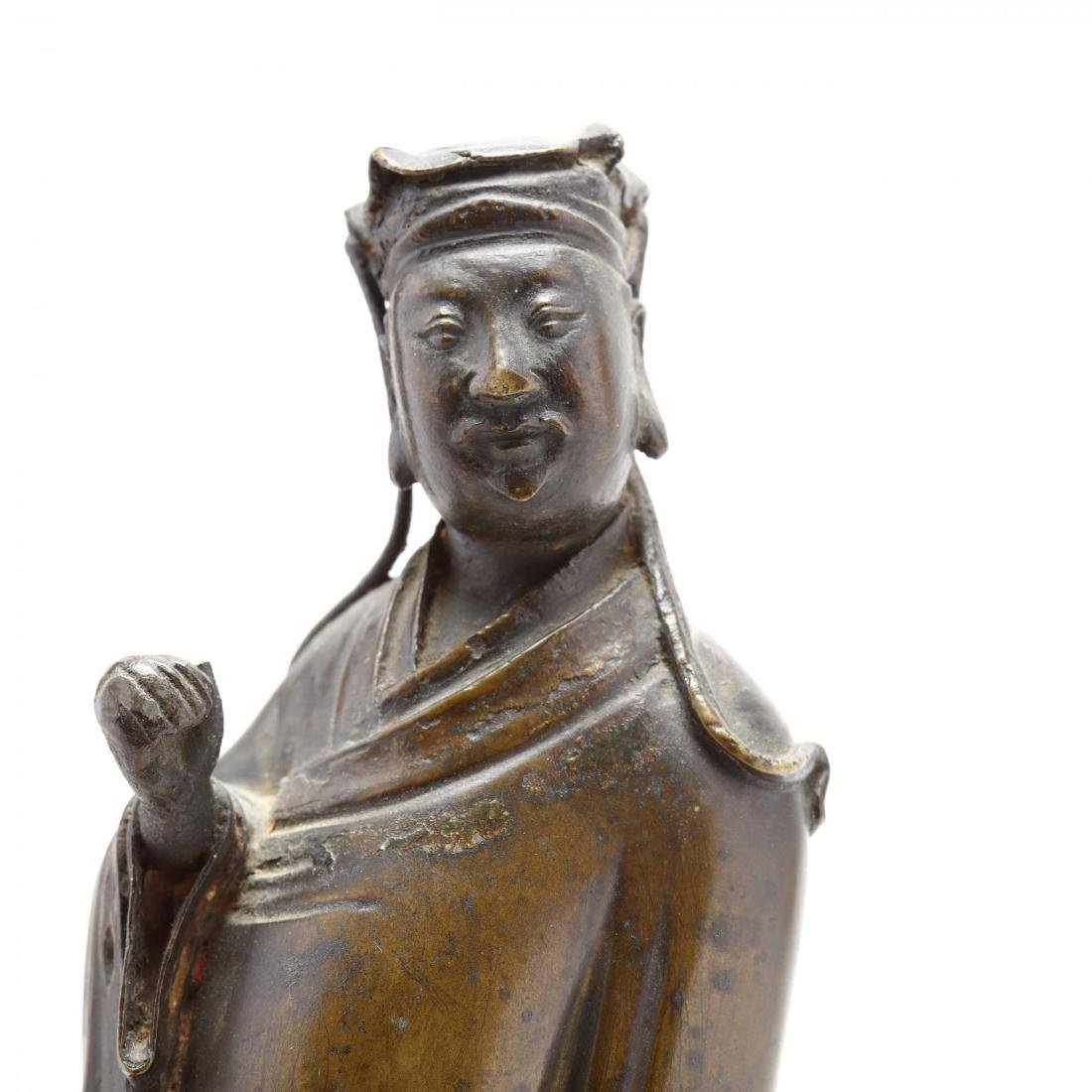 A Chinese Bronze Sculpture of a Noble Scholar - 3