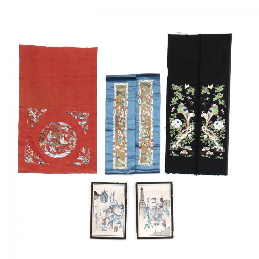 A Fine Group of Chinese Embroidered Silks and Export