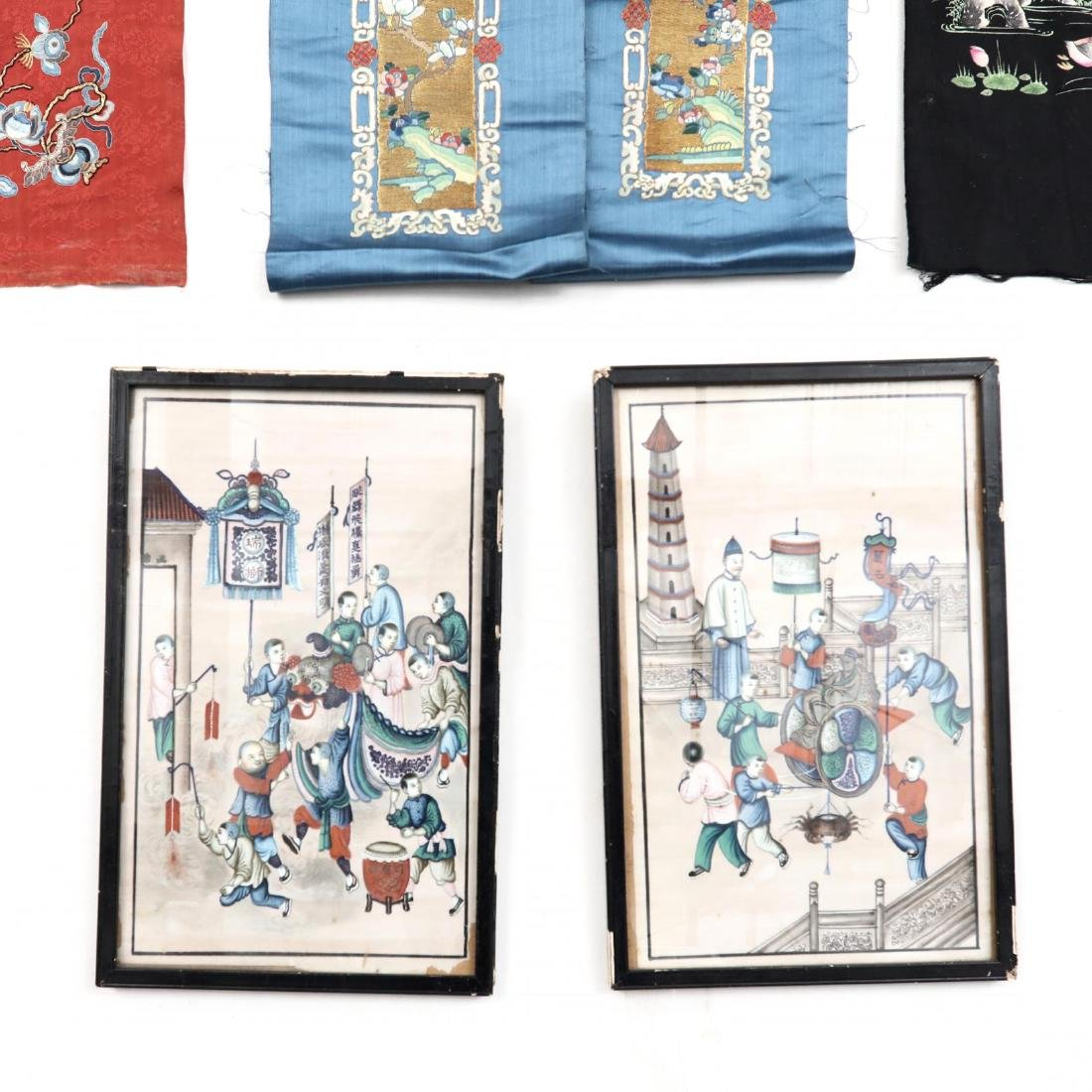 A Fine Group of Chinese Embroidered Silks and Export - 2