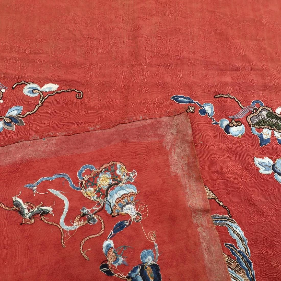 A Fine Group of Chinese Embroidered Silks and Export - 4
