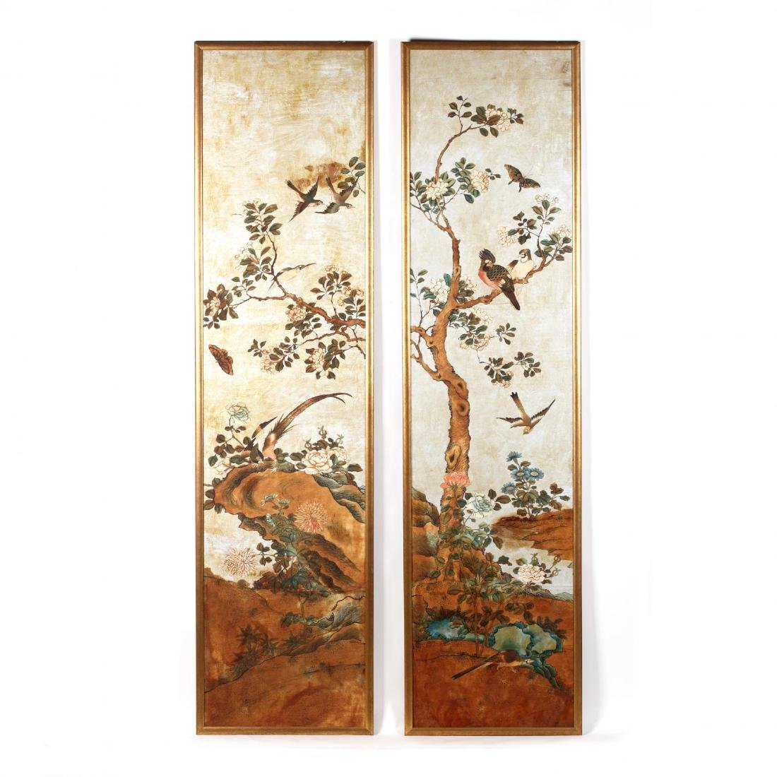 A Pair of Chinoiserie Paintings
