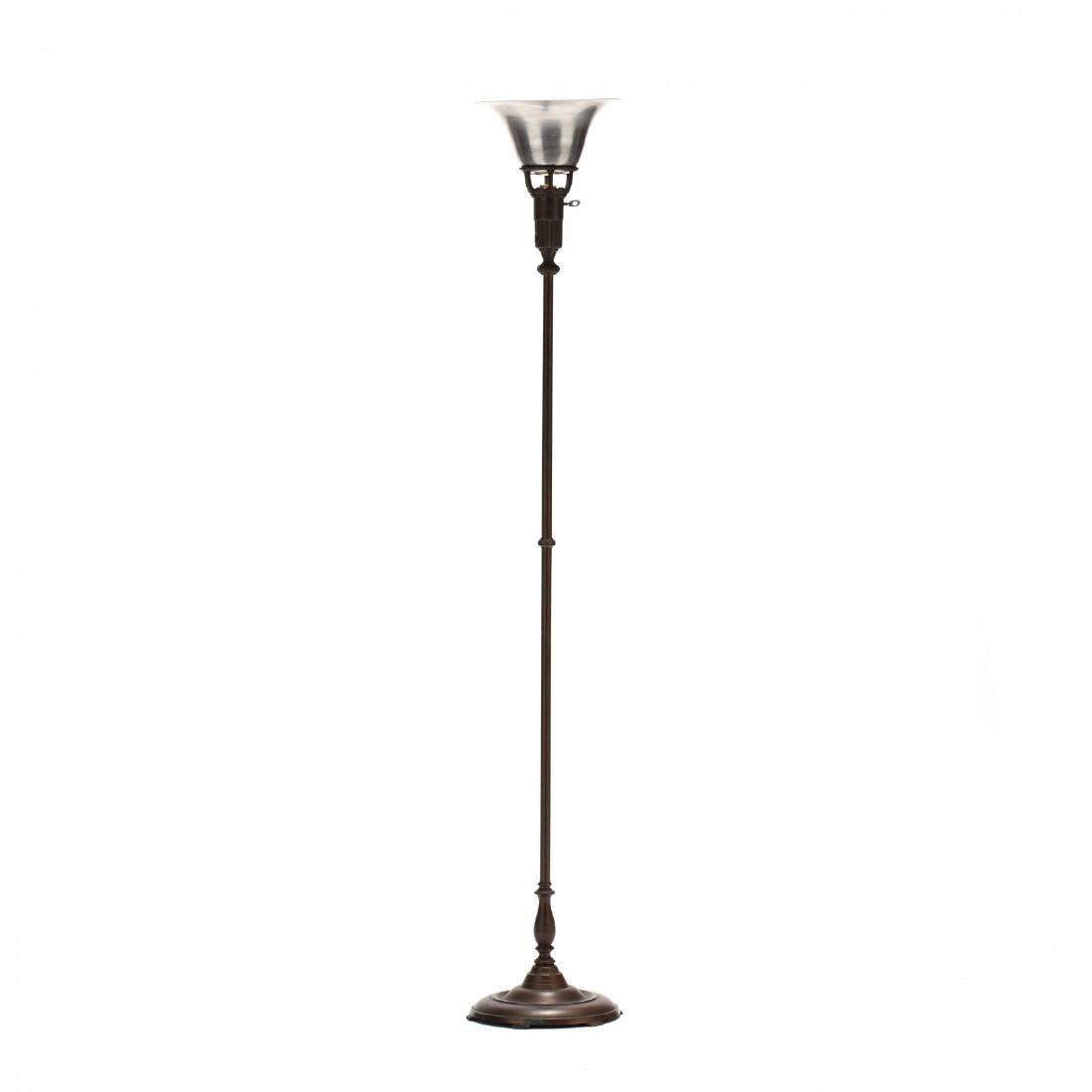 Art Deco Lightolier Torchiere Floor Lamp