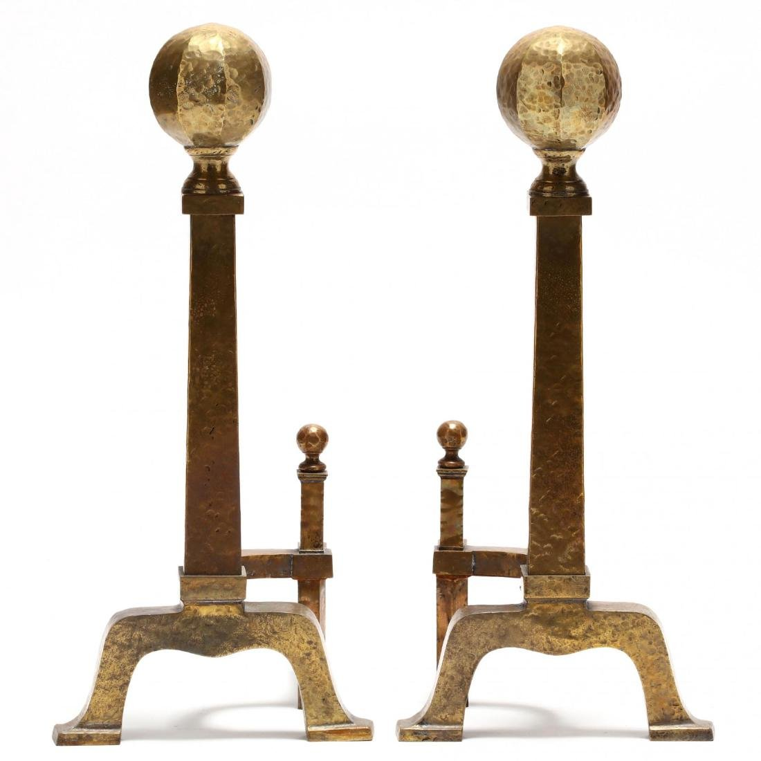 Pair of Arts and Crafts Style Andirons