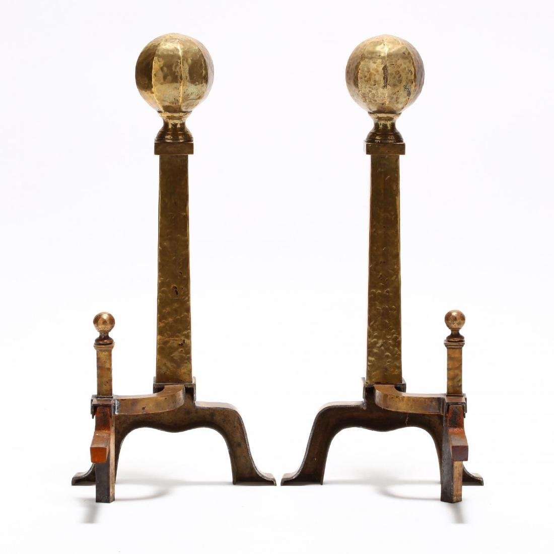 Pair of Arts and Crafts Style Andirons - 2