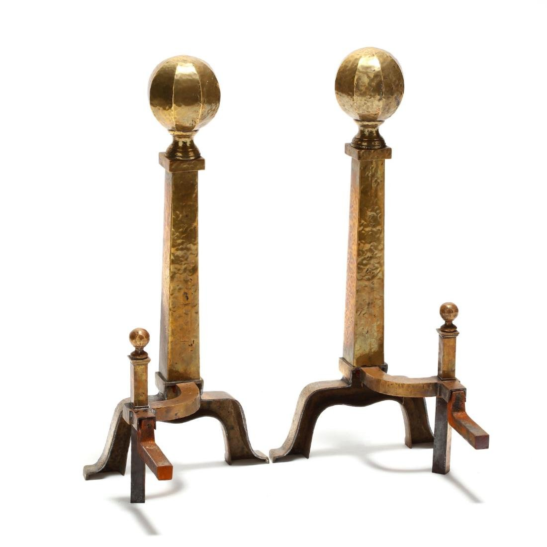 Pair of Arts and Crafts Style Andirons - 3