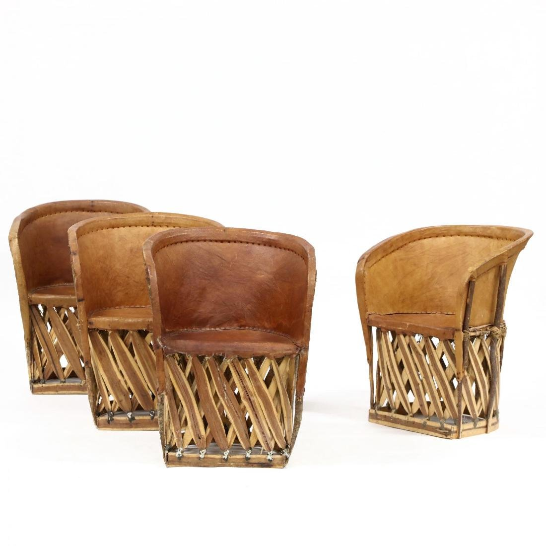Four Mexican Equipale Pigskin Chairs