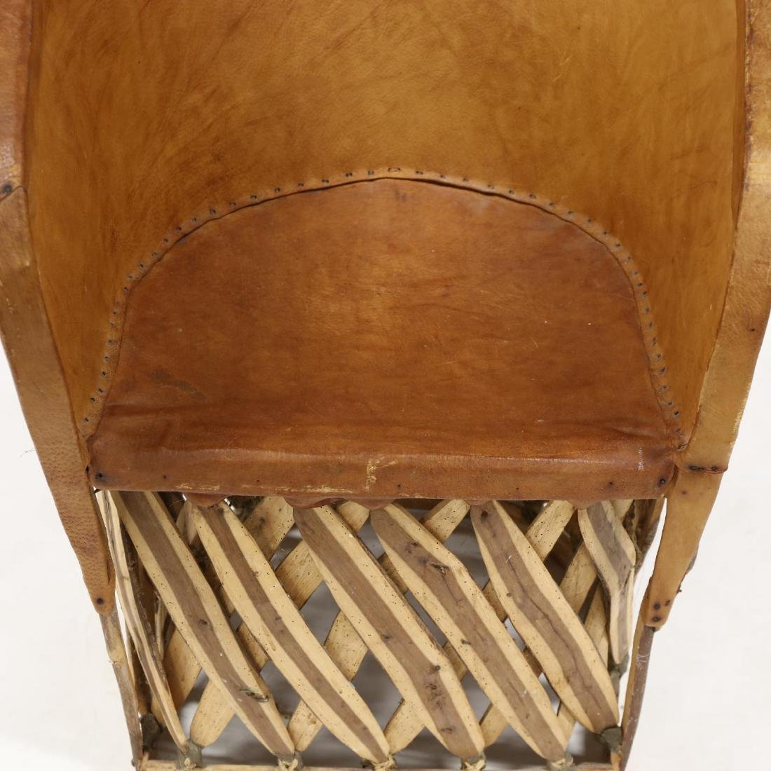 Four Mexican Equipale Pigskin Chairs - 4