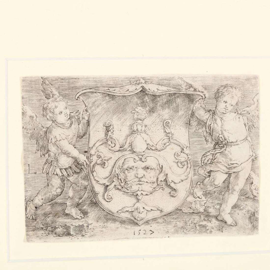 Lucas van Leyden (Dutch, 1494-1533),  Coat-of-Arms with - 2