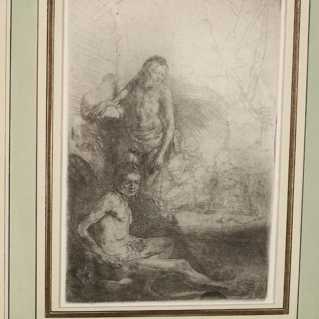 Rembrandt van Rijn (Dutch, 1606-1669),  Nude Man Seated - 2