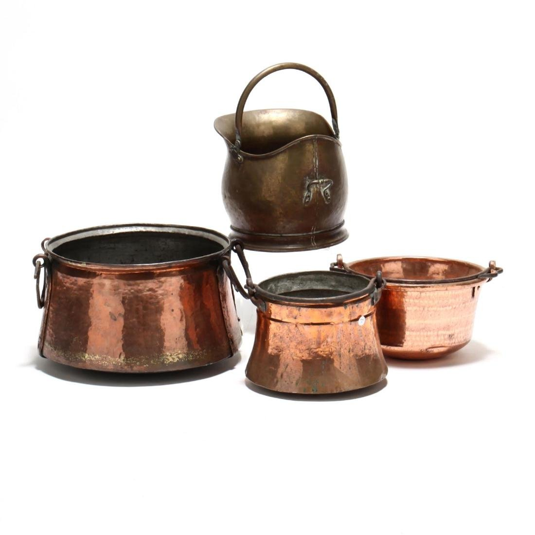 Four Copper and Brass Buckets - 3