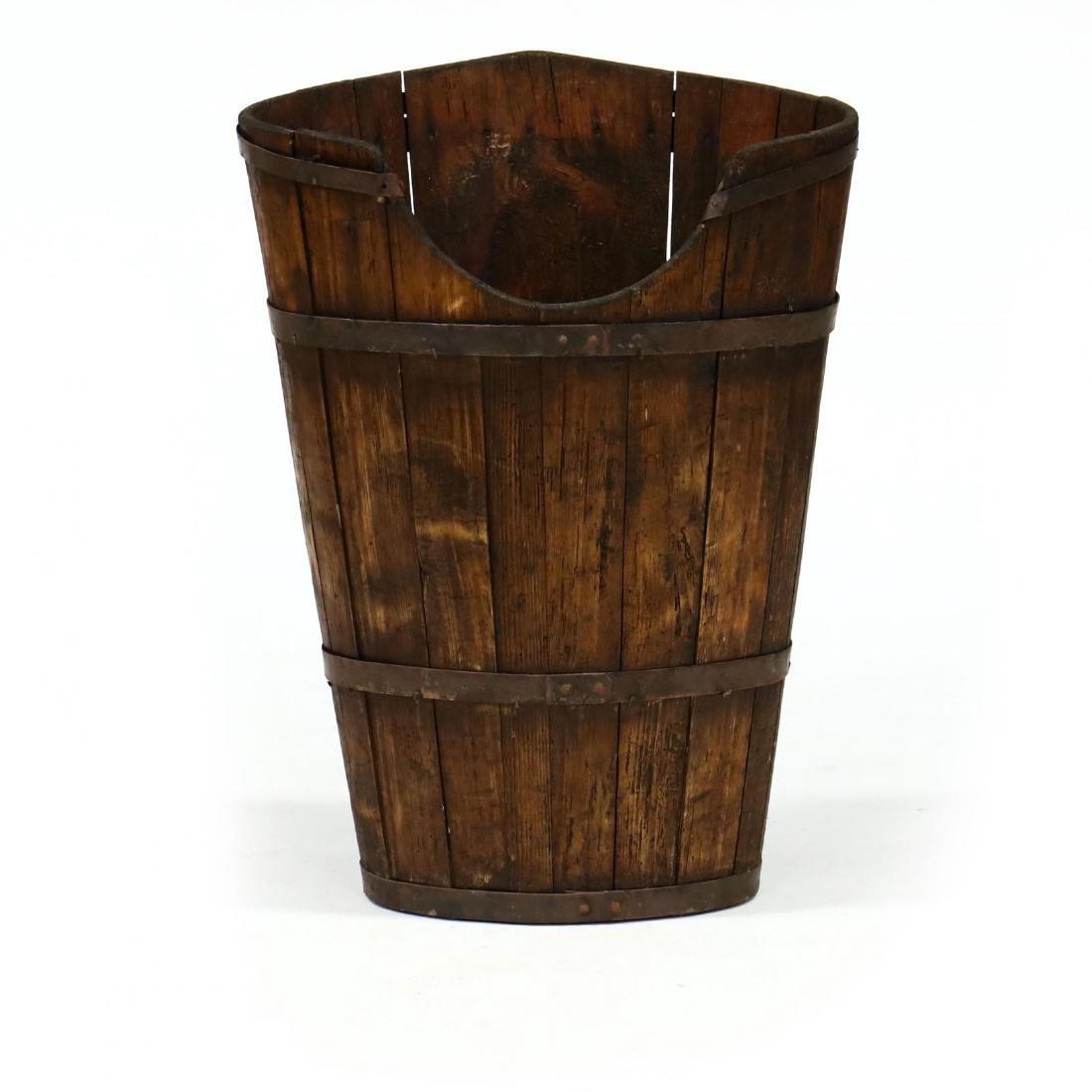Antique French  Hotte  Grape Gathering Barrel