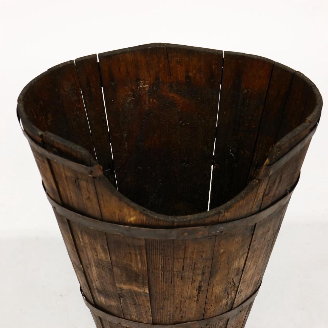 Antique French  Hotte  Grape Gathering Barrel - 2