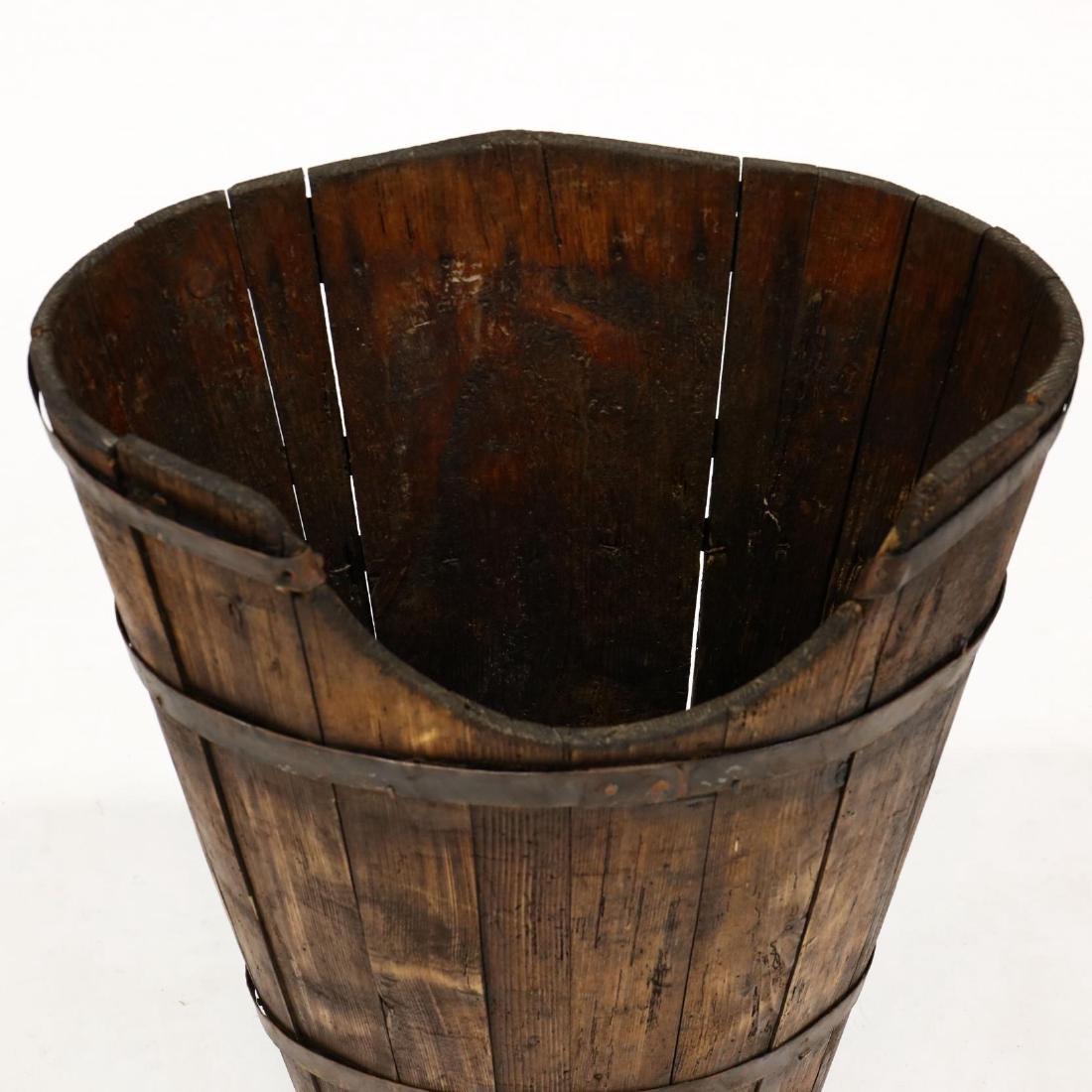 Antique French  Hotte  Grape Gathering Barrel - 3