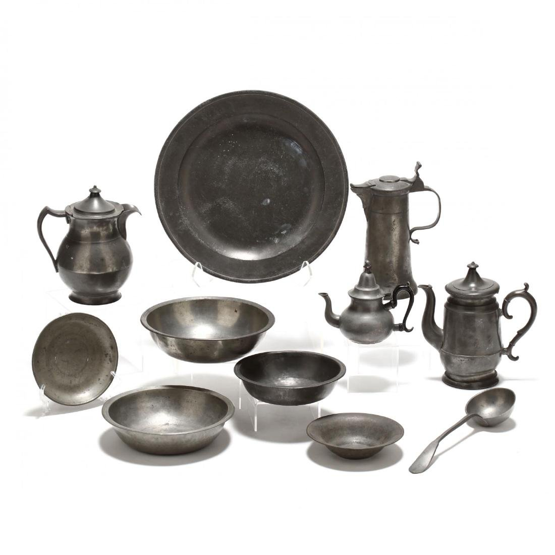 Collection of Pewter Serving Accessories
