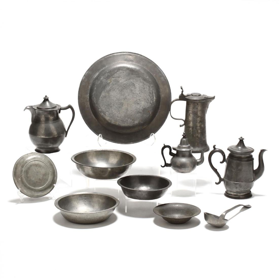 Collection of Pewter Serving Accessories - 2