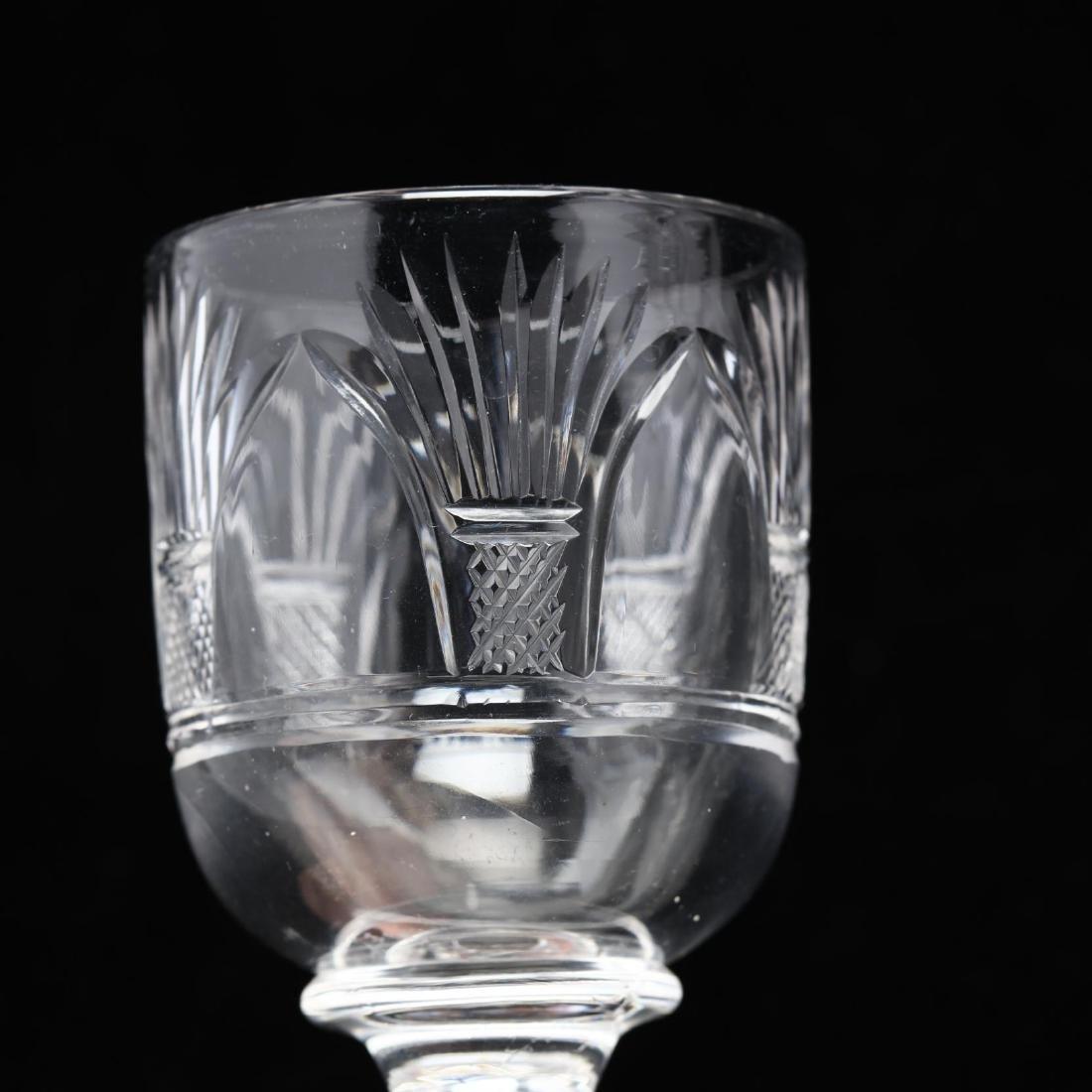 Nine Anglo Irish Cut Glass Stems - 3