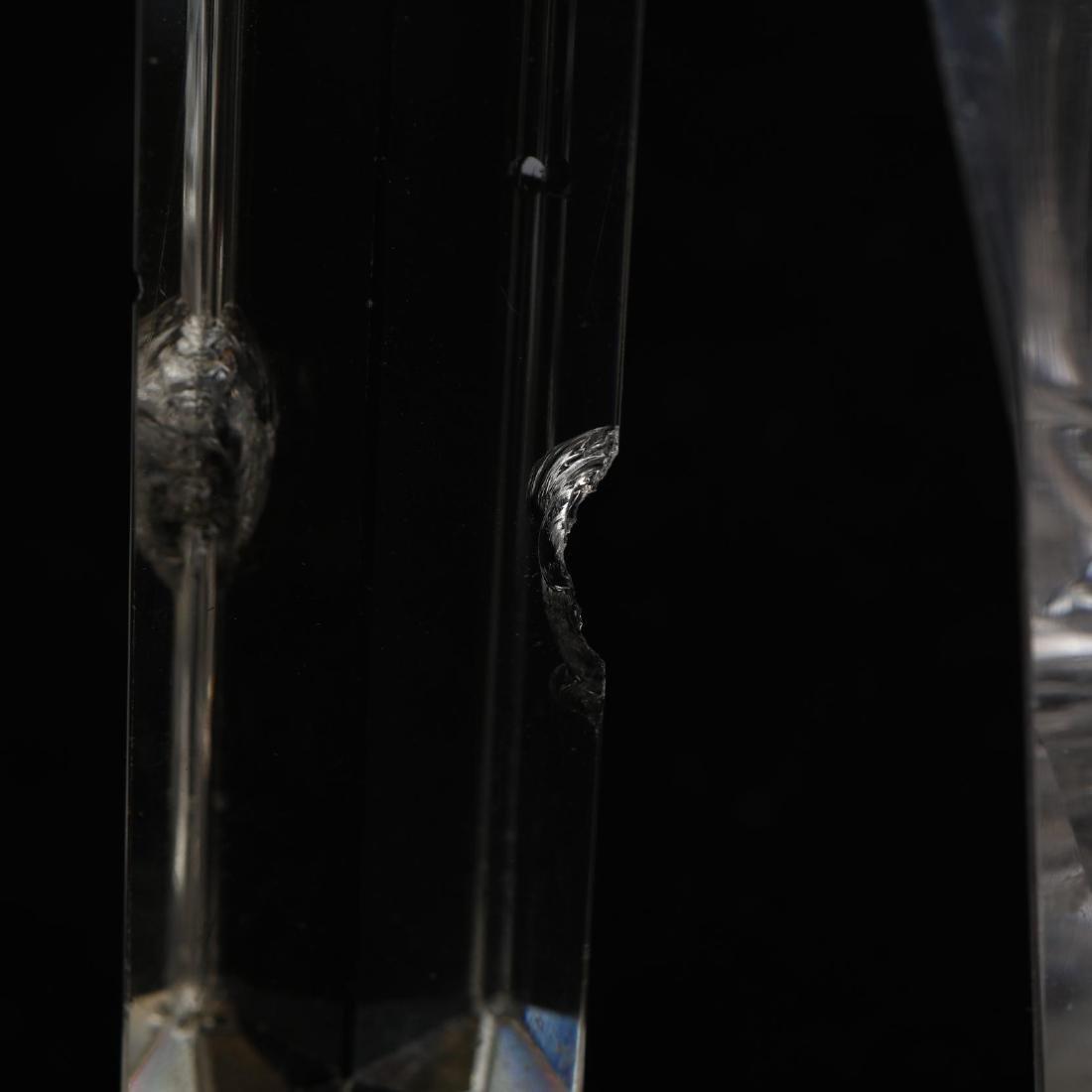 Pair of American Brilliant Period Cut Glass Mantel - 5