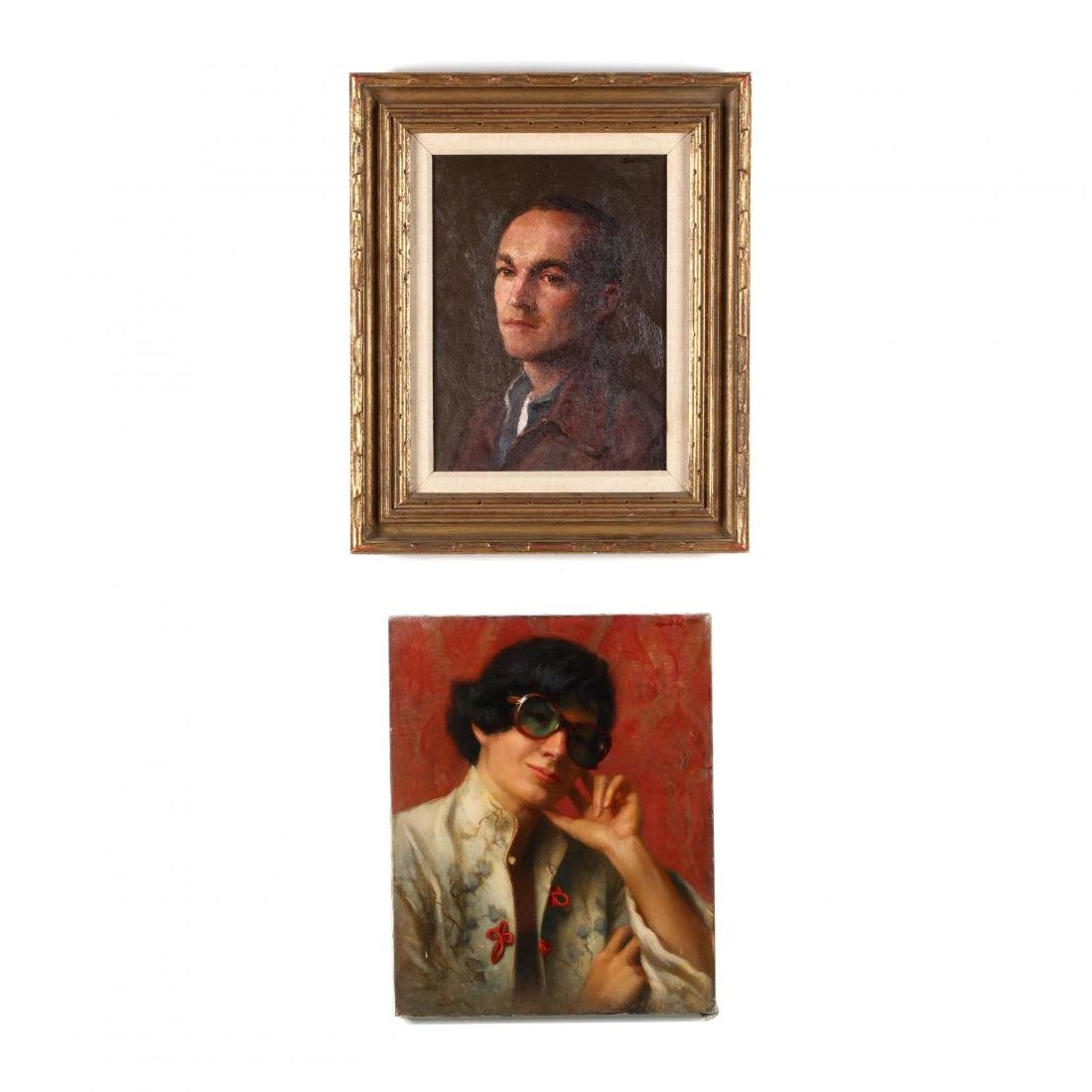 Two Portraits, Ray Goodbred and Robert Brackman