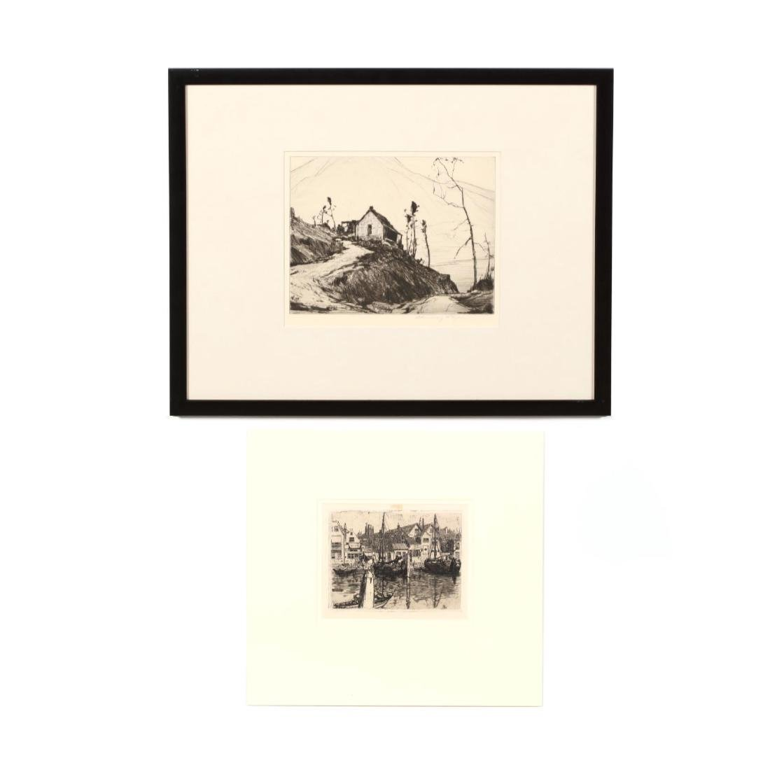 Two American Landscape Etchings