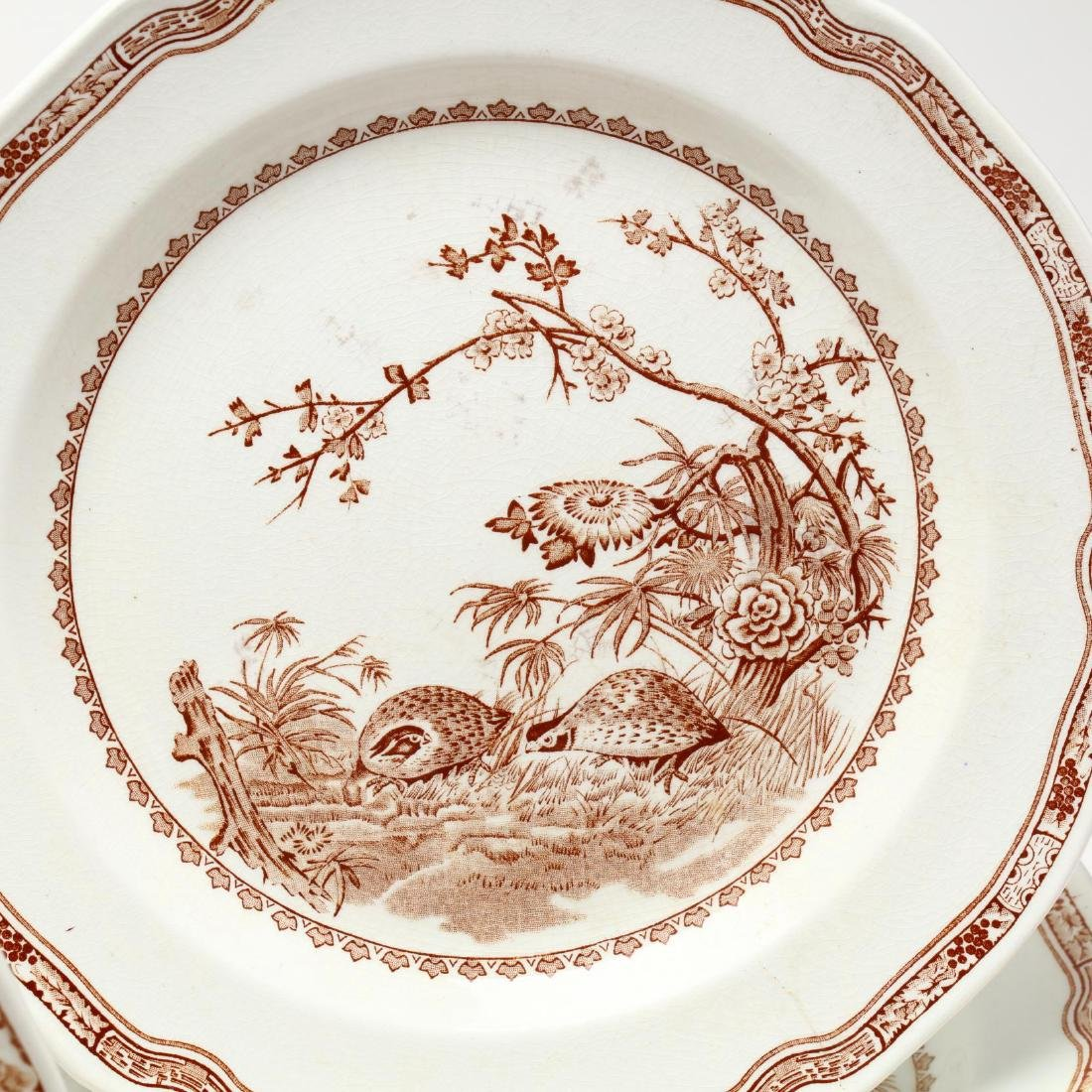"Furnivals, Large Group of ""Brown Quail"" China - 4"