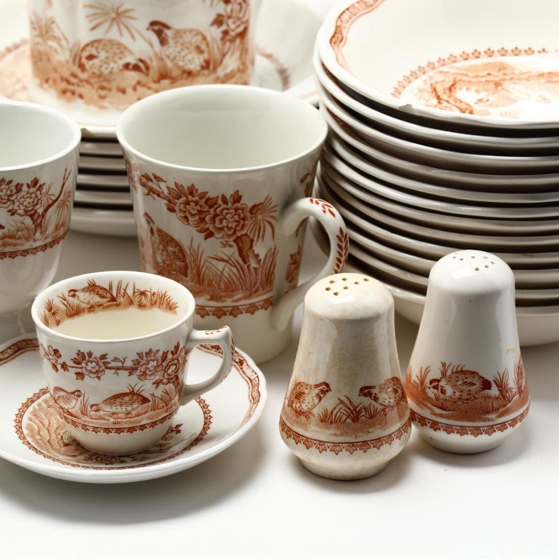 "Furnivals, Large Group of ""Brown Quail"" China - 7"