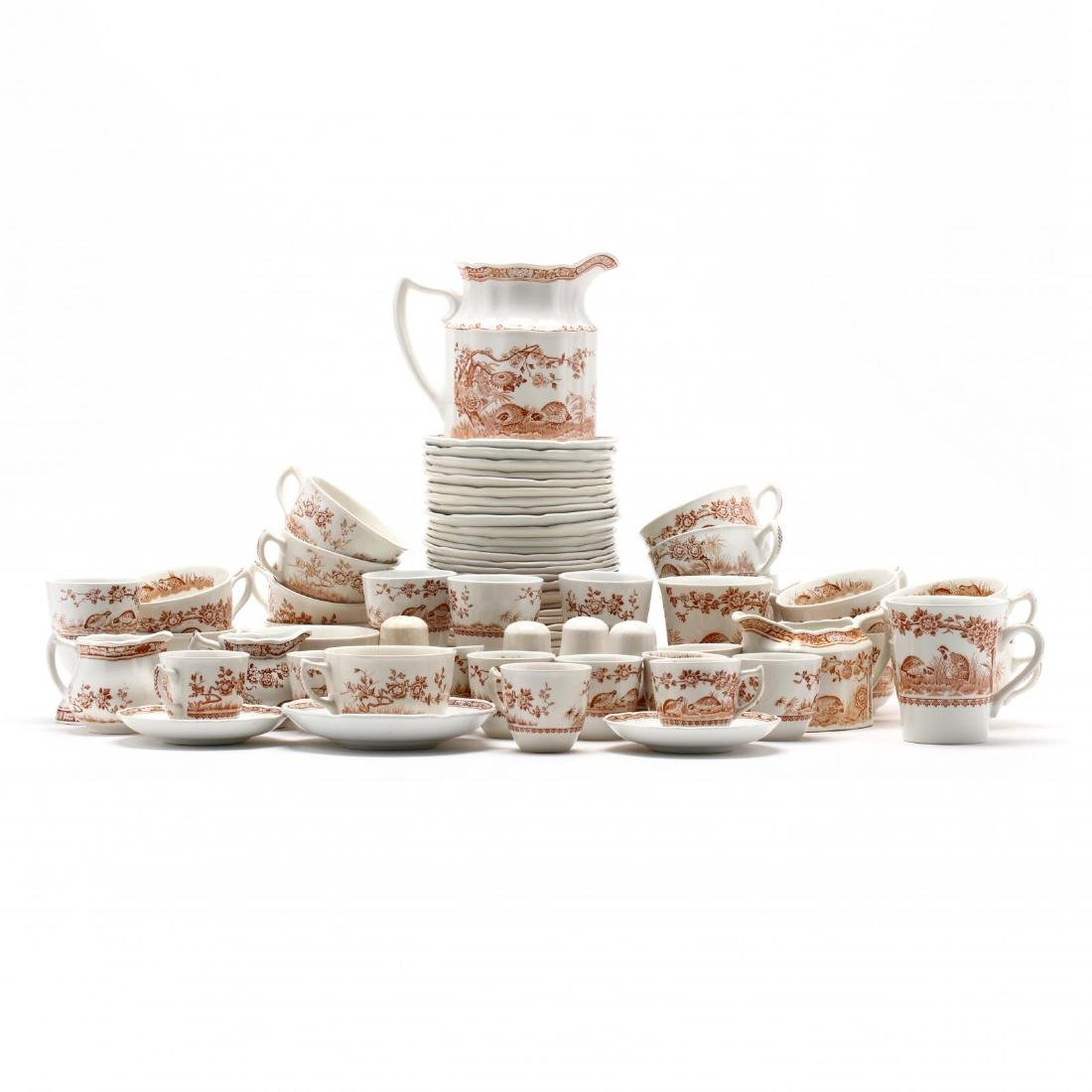 "Furnivals, Large Group of ""Brown Quail"" China - 9"
