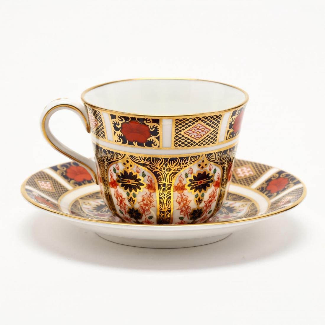 A Set of Six Royal Crown Derby Cups and Sucers - 5