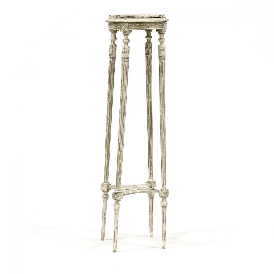 Louis XVI Style Marble Top Stand