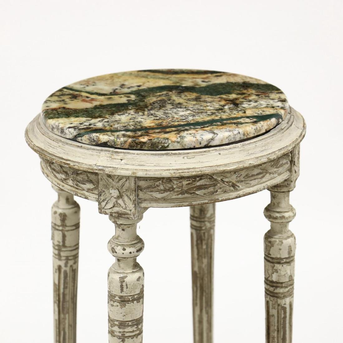 Louis XVI Style Marble Top Stand - 2