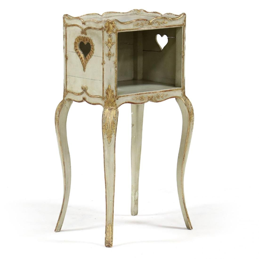 Louis XV Style Painted Side Stand