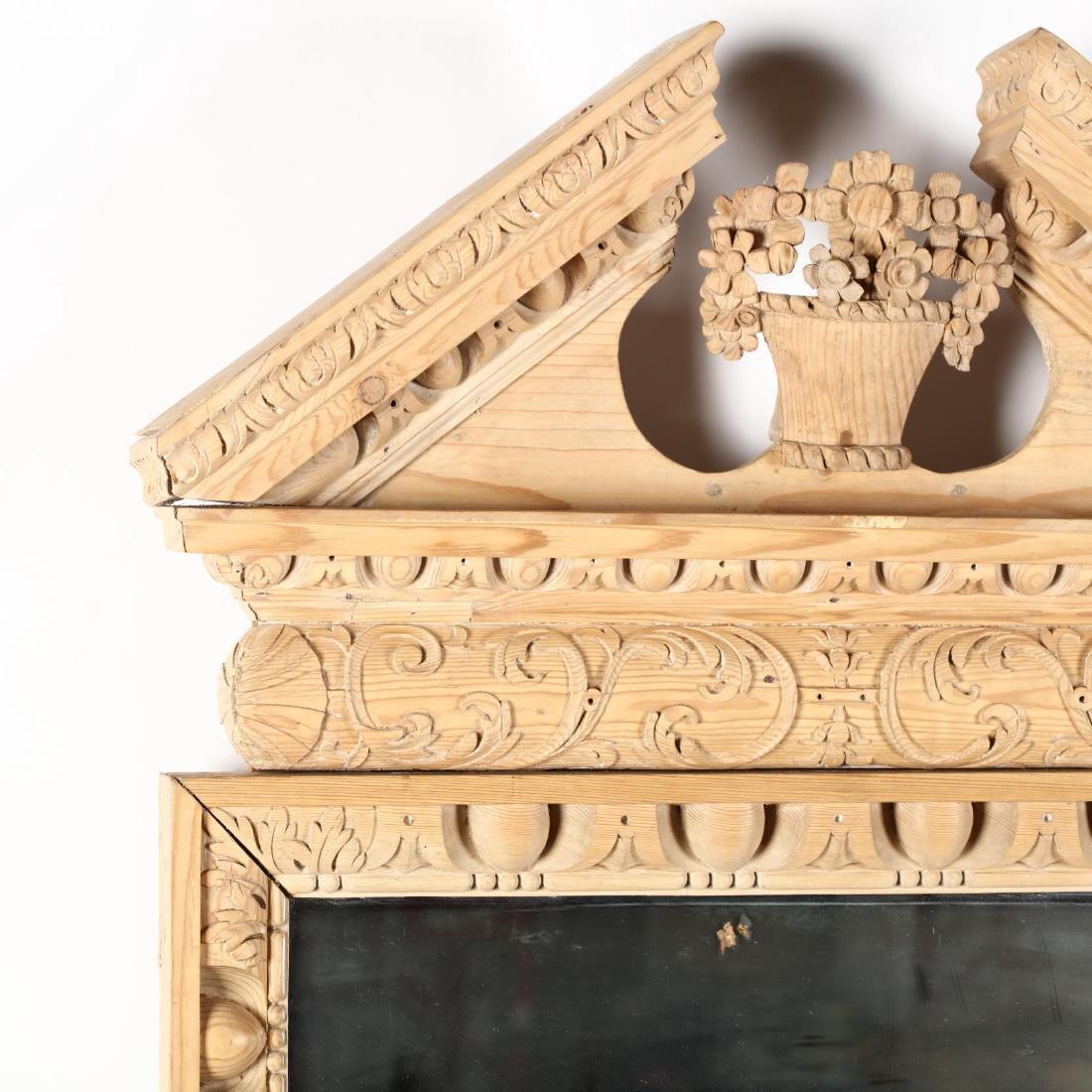 Italianate Carved Pine Architectural Mirror - 2