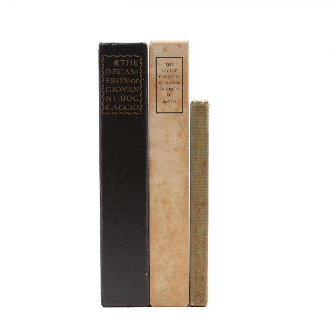 Three Prewar Limited Editions Club Slipcased Books With