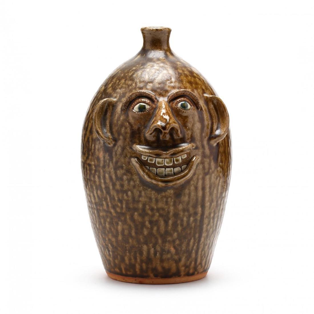 NC Folk Pottery, Joe Reinhardt Face Jug