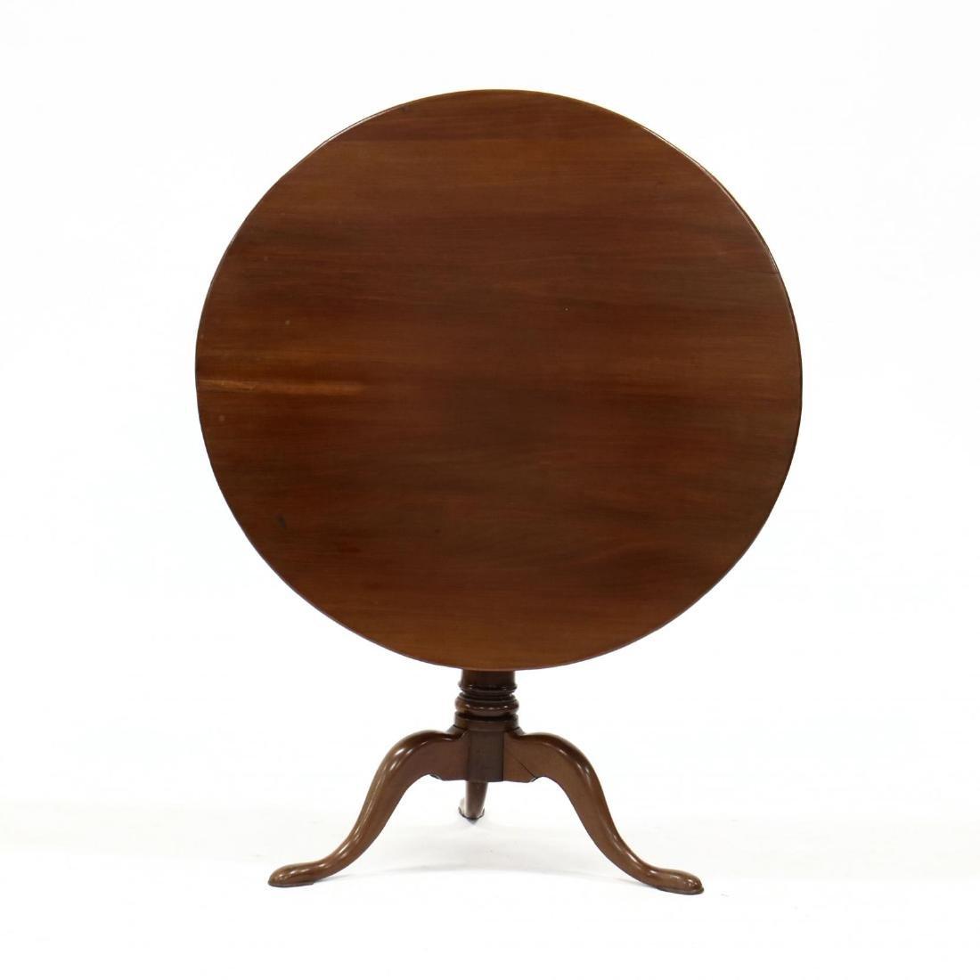 American Queen Anne Mahogany Tilt Top Tea Table - 2