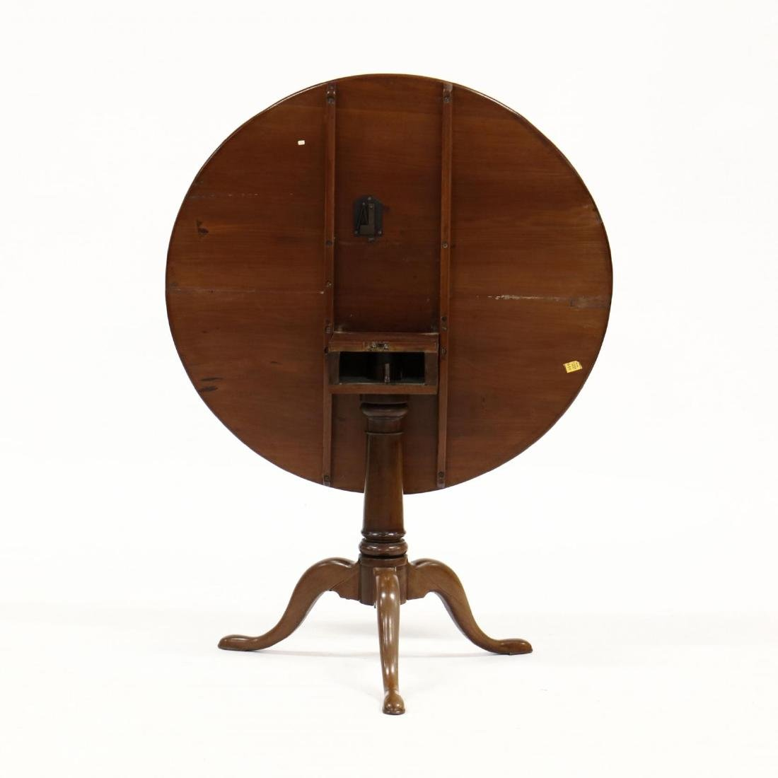 American Queen Anne Mahogany Tilt Top Tea Table - 3