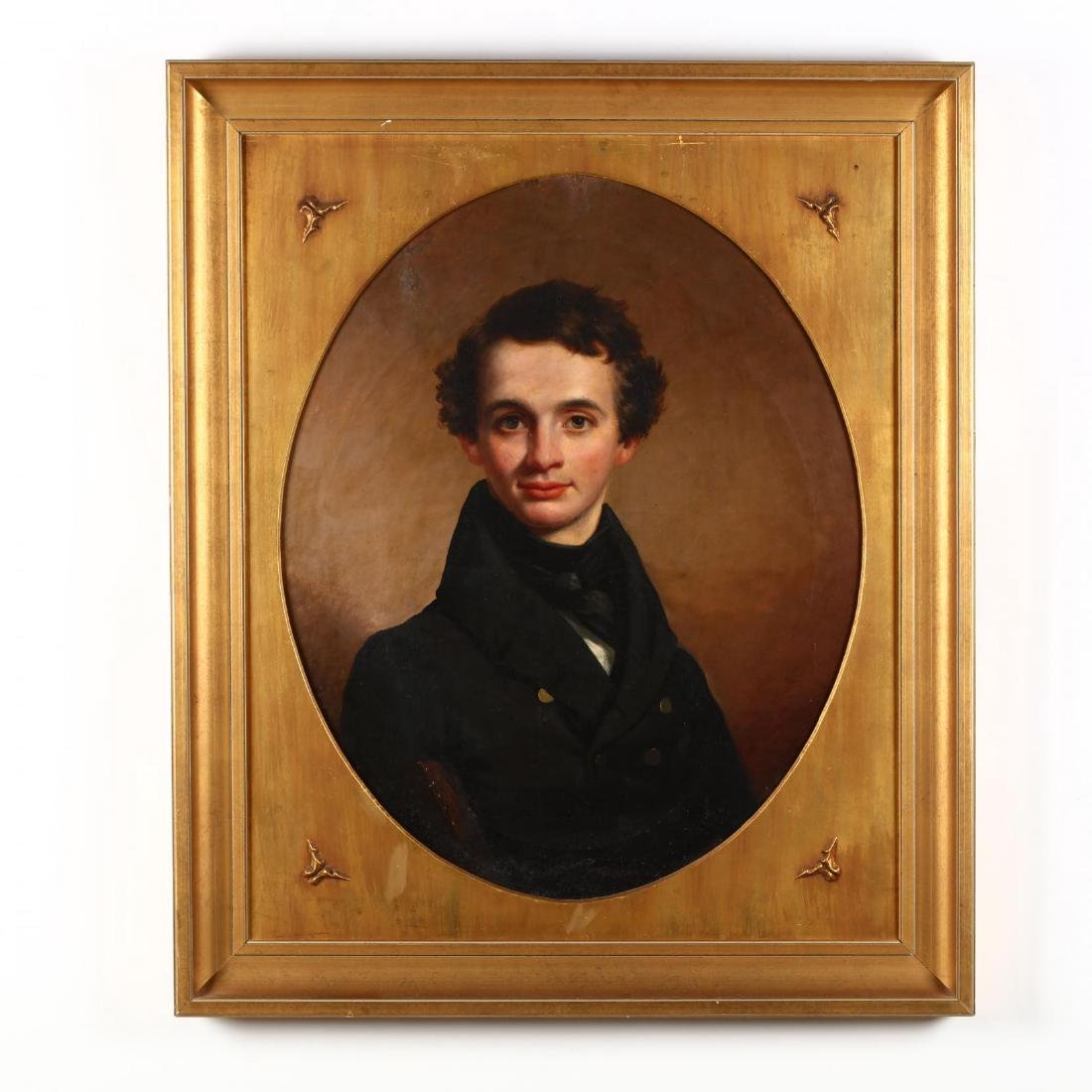 An Antique Portrait of a Young New York Timber Merchant
