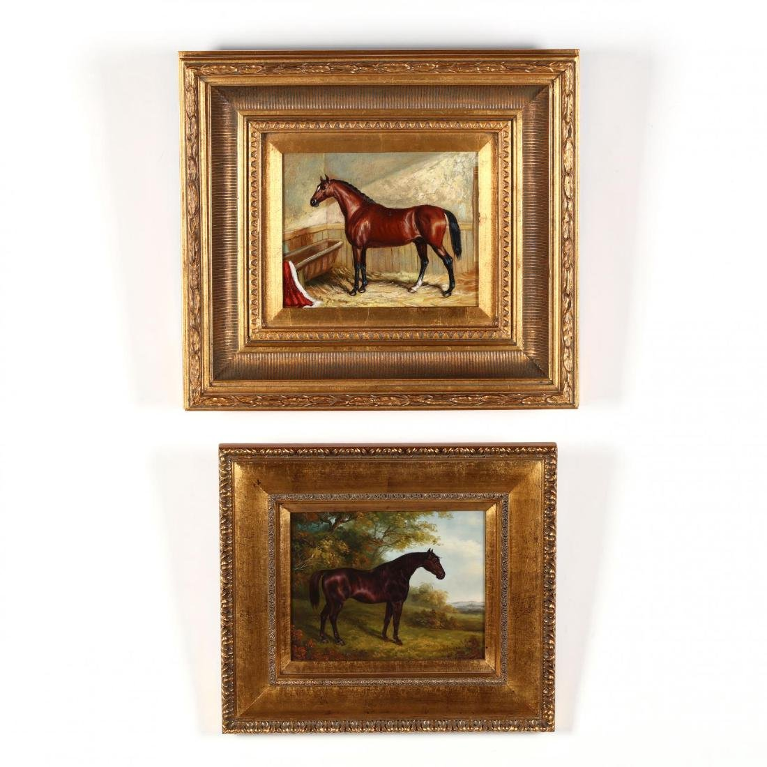 Two Contemporary Equestrian Paintings