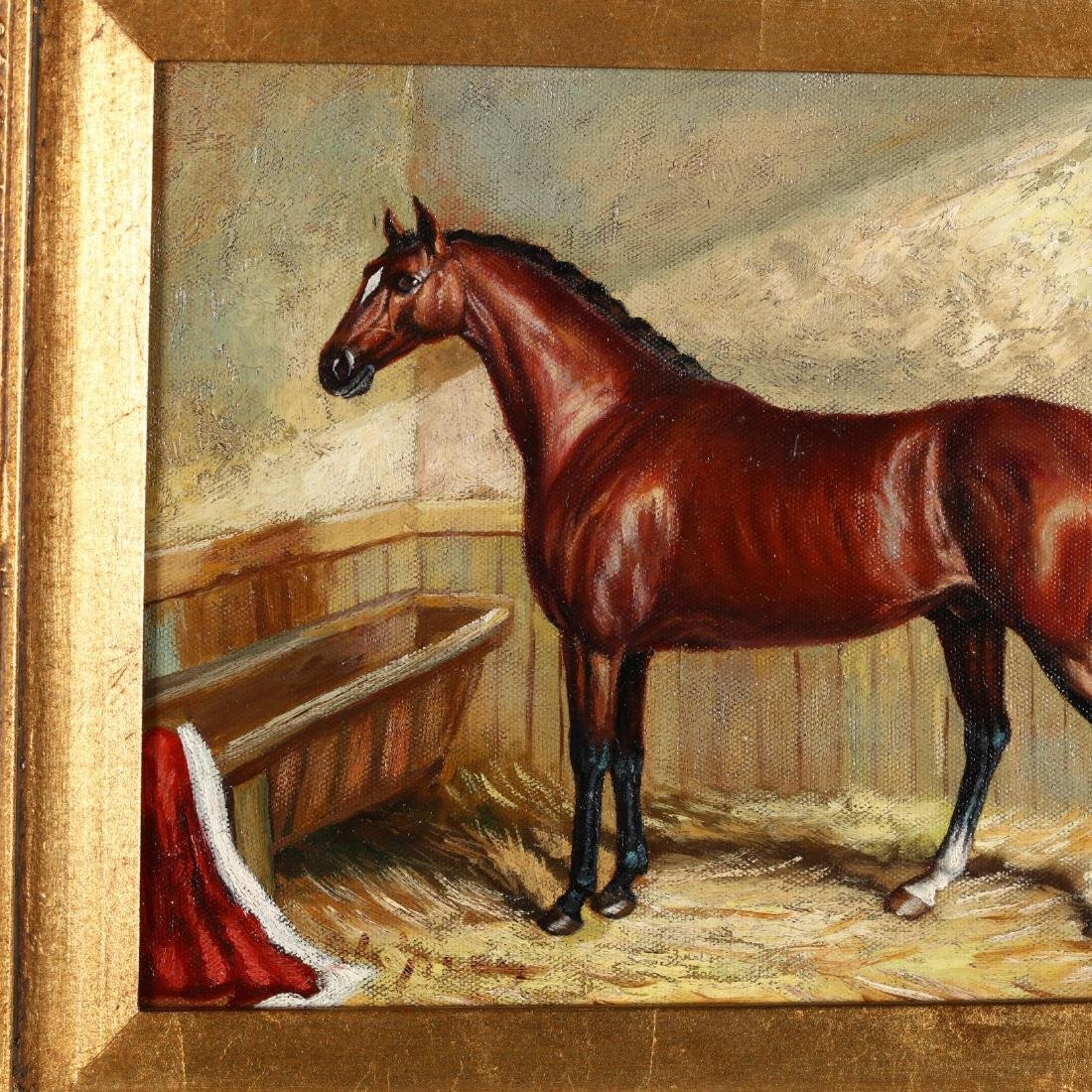 Two Contemporary Equestrian Paintings - 2