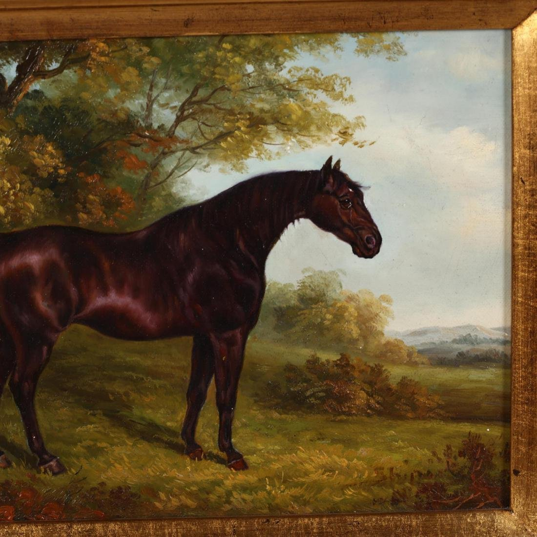 Two Contemporary Equestrian Paintings - 3