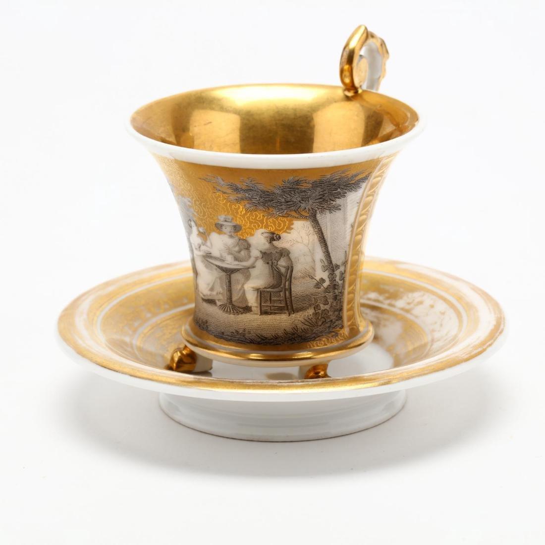 Paris Porcelain Cup and Saucer - 2
