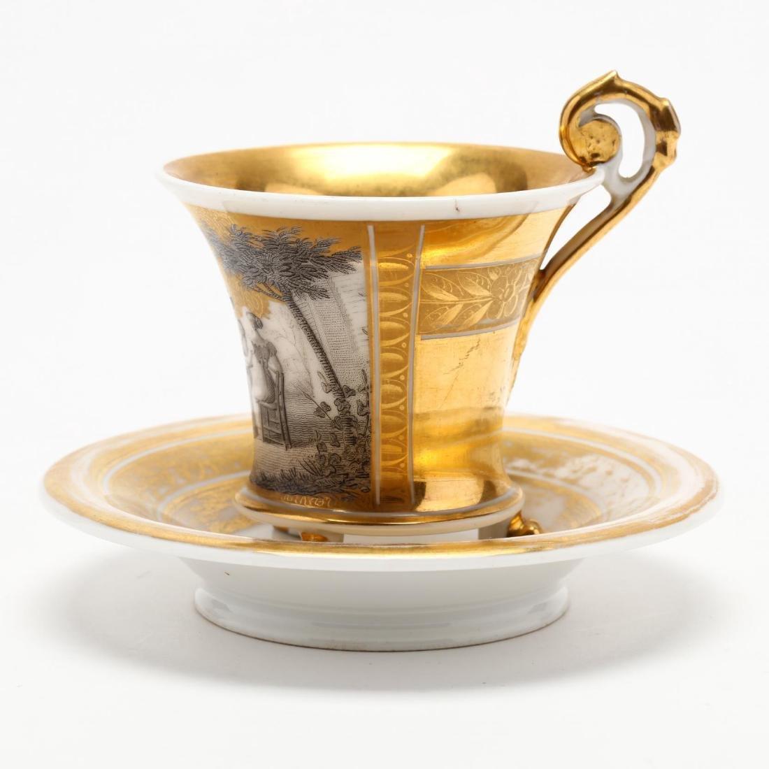 Paris Porcelain Cup and Saucer - 3