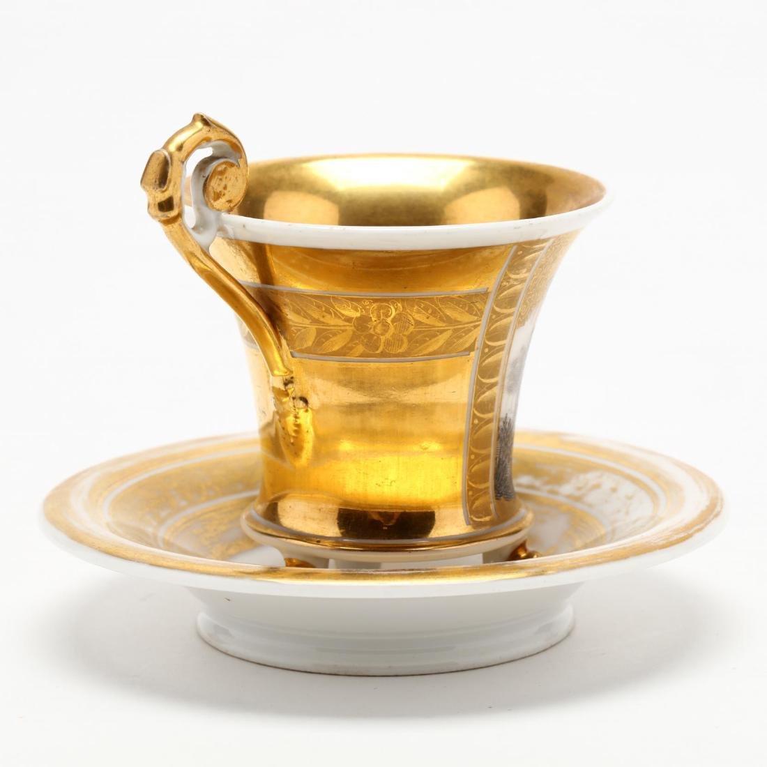 Paris Porcelain Cup and Saucer - 4