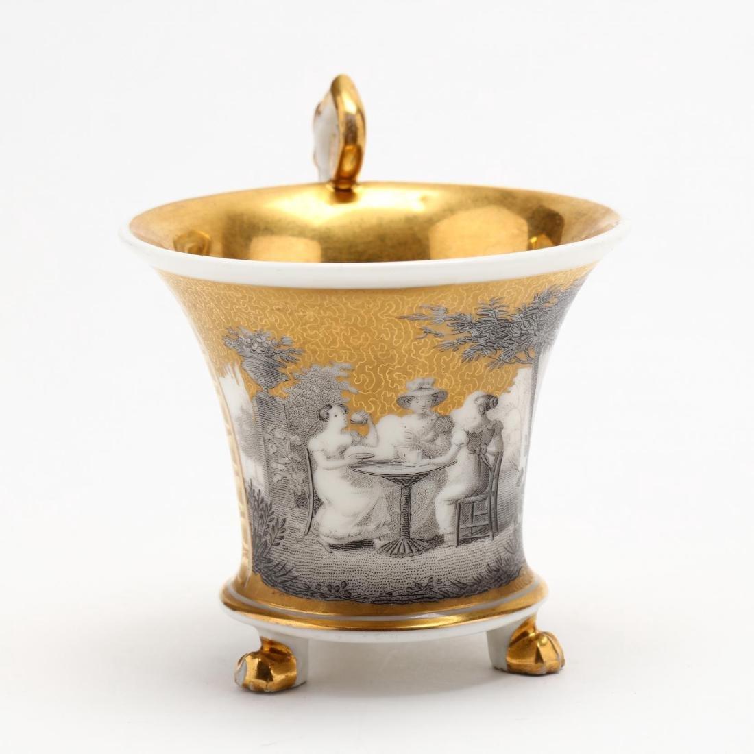 Paris Porcelain Cup and Saucer - 5