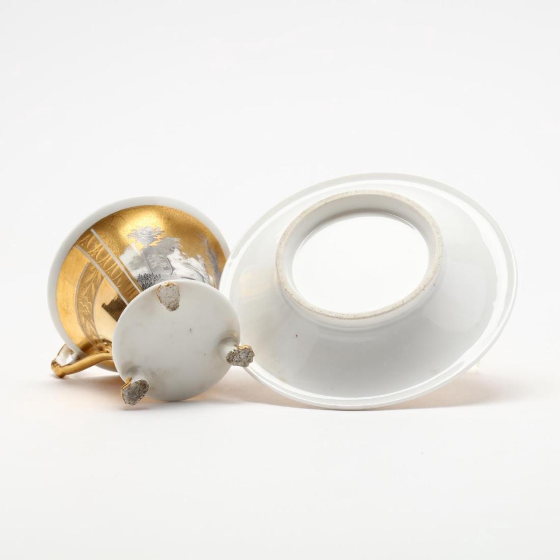Paris Porcelain Cup and Saucer - 6