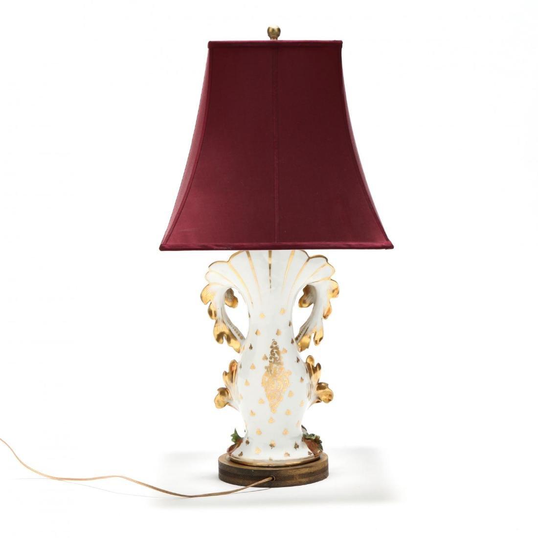 Antique Paris Porcelain Table Lamp - 3