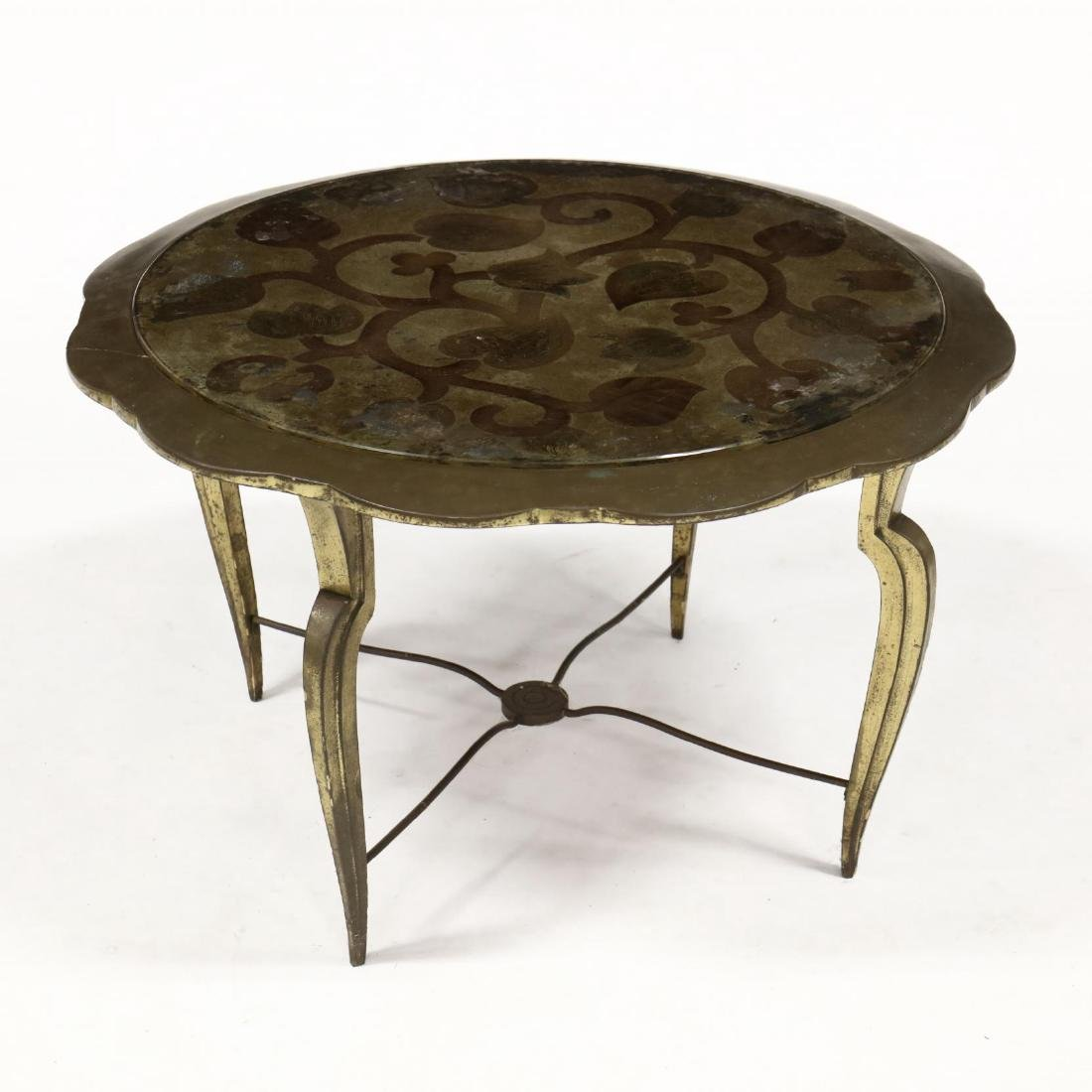 Contemporary Reverse Painted Low Circular Side Table - 2