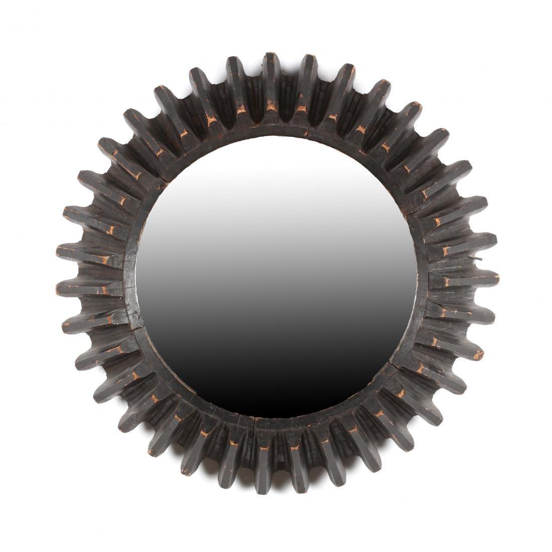 Industrial Gear Framed Wall Mirror