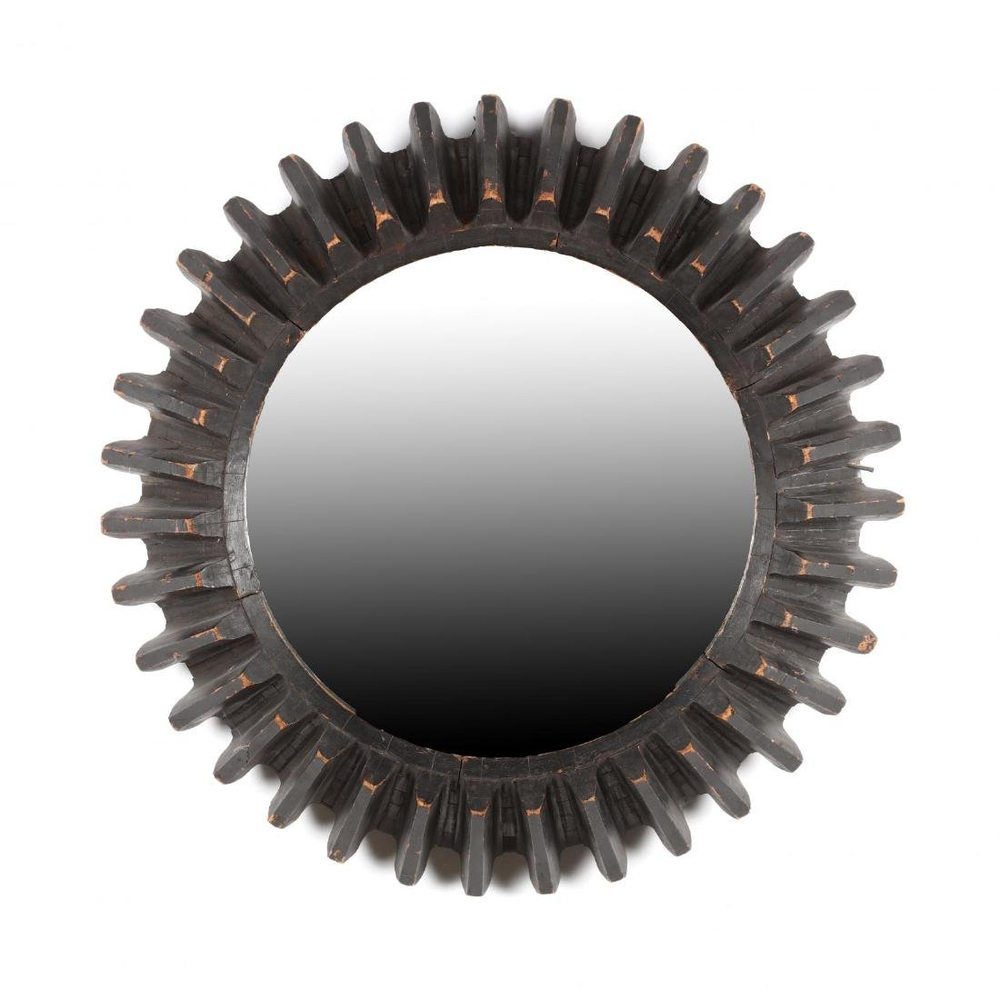 Industrial Gear Framed Wall Mirror