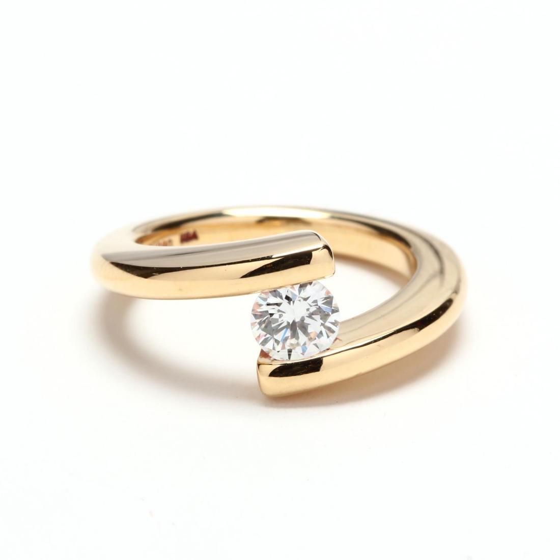 18KT Gold and Diamond Ring, Steve Kretchmer